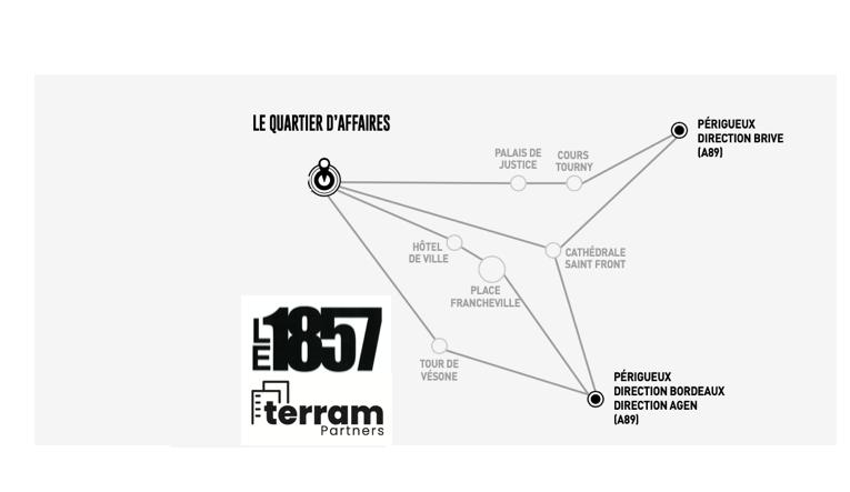 """PÉRIGUEUX """"QUARTIER D'AFFAIRES"""" BUREAUX VENTE OU LOCATION R+3 et R+4 DANS L'IMMEUBLE """"LE 1857"""""""